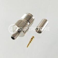 RP TNC Female Connector Crimp Attachment Coax RG55, RG58