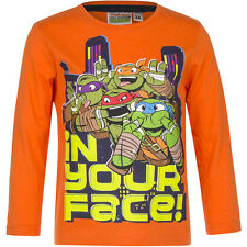 Jersey Camiseta manga larga Niños Tortugas Ninja Gris Azul Naranja 98 104 116