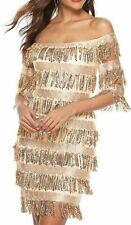 Womens Cute Off The Shoulder Sequin Fringe Mini Short Dresses Evening Gown BgXXL