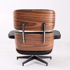 Eames Lounge Chair & Ottoman  Italian Leather Chair Black Palisander Wood Hot!