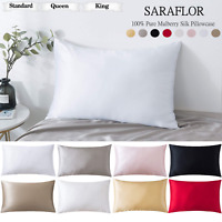 100 % Pure Mulberry Silk Pillowcase Cover Pillowcase For Hair Facial  8 Color