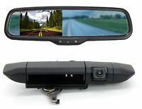 Rear View Mirror Monitor Tailgate Backup Camera Kit For Toyota Tacoma 2005-2014