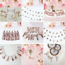 TEAM BRIDE TO BE HEN PARTY NIGHT ROSE GOLD PINK GARLAND DECORATION SUPPLIES