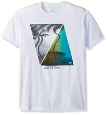 New RIP CURL Shutter Premium Tee T Shirt Large White 100% Cotton HH10
