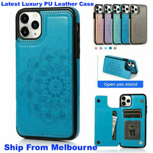 for iPhone 11/12 New Premium PU Leather Case Back Cover Wallet with Cards Slots