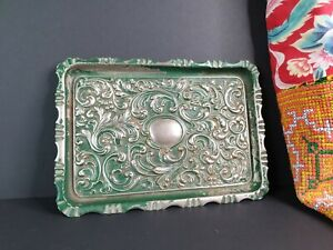 Old Silver-Plated Ornate Serving Tray …beautiful accent & collection piece