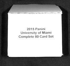 2015 Panini_University of Miami Hurricanes_Complete 80 Card Set_Michael Irvin