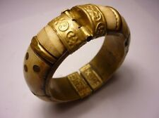 Antique Bulgarian Bone With Brass Bracelet 19 Century