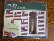 Wallies Wallpaper Cutouts #12978 24 Warren Kimble AMERICANA FLAGS Pre-Pasted