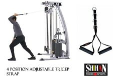 NEW DOUBLE Cable Crossover gym Attachment STIRRUP Handle - 4- RING ADJUSTABLE