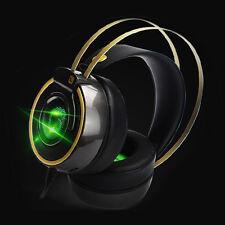 Bass Hifi Gaming Headset LED Breathing Light Over Ear Gamer Headphone Vibration