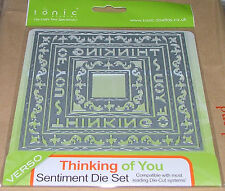 TONIC STUDIOS VERSO - SENTIMENT DIE SETS - THINKING OF YOU - 7 DIES