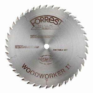 "FORREST WW10407125, 10"" WOODWORKER II TABLE SAW BLADE 5/8 Bore .125 Kerf 40T"