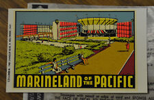ORIGINAL VINTAGE TRAVEL DECAL MARINELAND OF THE PACIFIC WOODY AUTO OLD HOT ROD