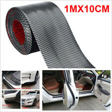 DIY Car Sticker Carbon Fiber Rubber Door Sill Protector Edge Guard Strip 10CM*1M