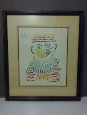 """Pablo Picasso """"The Joyous King"""" Color Lithograph Limited Edition 388/500 Framed"""