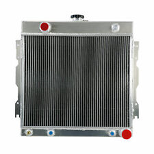 3-ROW FULL ALUMINUM RADIATOR+2 RED FAN 74-79 CHARGER//CHALLENGER//B//D-SERIES V8
