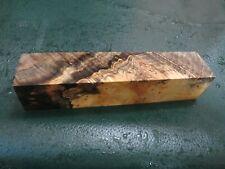 SPALTED BUCKEYE  BURL DELUXE KNIFE BLOCK/SCALES/ CALLS/ PEN BLANKS--BU--26