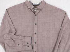 VAN HEUSEN ORIGINALS Vtg Burgundy Classic Fit Button Shirt Men's XL 17 17 1/2