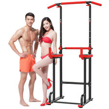 Chin Up Bar Power Tower Workout Dip Station Pull Up Dip Exercise Equipment Gym