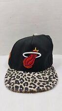 Rare Vintage Miami Heat New Era Snapback Hat Adjustable Cheetah Leopard Print