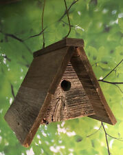 Bird House Rustic Weathered Natural Wood Usa Handmade