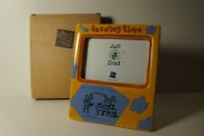 Picture Photo Frame RUSS JUST FOR DAD Feeding Time Ceramic Tabletop Desktop 3x5""