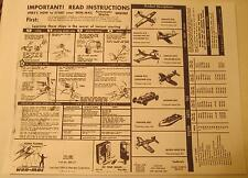 Wen-Mac Copies of Starting & Operating Instructions - Gas Powered Planes, Cars