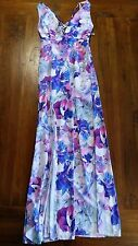 Angel Biba white pink flowing maxi dress sz6 BNWT free post E7