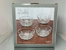 "Dublin Crystal Collection, Shannon by Godinger, ""Set of 4 Crystal Dessert Bowls"""