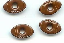 """Brown FOOTBALL 1/8"""" EYELETS Sports Touch Down Scrapbooking Card Making Stamping"""