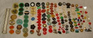 Lot 150+ Antique Vintage Celluloid plastic Buttons figural