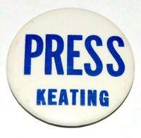 1964 PRESS KEATING kenneth senator NY SENATE pin pinback button political rfk