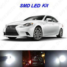 16 x Ultra White LED interior Lights Bulbs for 2014-2015 Lexus IS250 IS350