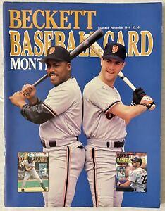 Beckett Baseball Monthly - Issue  November 1989 - Kevin Mitchell & Will Clark