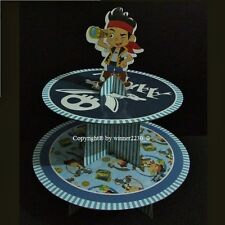 Disney JACK NEVER LAND PIRATES 2 Tier Cardboard Cake Stand Topper Fit 12 Cupcake
