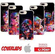 iPhone Silicone Cover Case Star Wars Jedi Dark Side Rainbow Paint - Coverlads