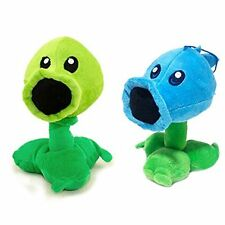 "Plants Vs Zombies Stuffed Plush Toy  Ice Peashooter and Peashooter 17cm 6.7"" Tal"