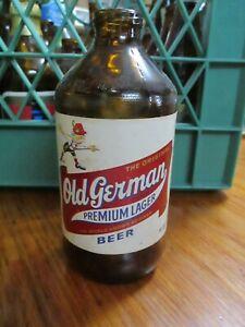 VINTAGE OLD GERMAN PREMIUM BEER BOTTLE~PAPER LABEL~12OZ. QUEEN CITY BREWING MD