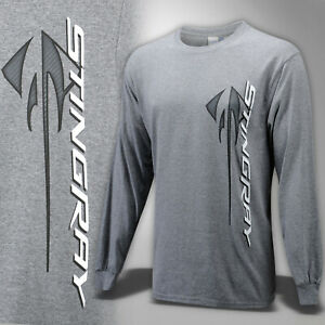 2014-2019  Corvette C7 Mens Long Sleeve Shirt with Stingray Logo and Script