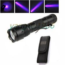 3W UltraFire WF-502B UV 395NM Ultraviolet LED Flashlight Torch 18650 + Holster