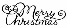 Christmas - Merry Christmas #4 Unmounted Clear Stamp Approx 60x25mm