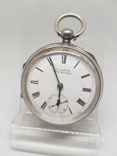 Antique solid silver gents H. Samuel Manchester pocket watch 1903 working re1168