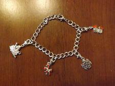 bracelet de noël argenté 4 charms (bra04)