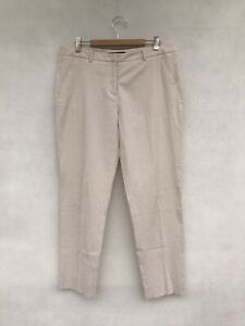 🍃 Womens Max Mara Weekend Cotton Striped Print Capri Pants Trousers Size 10