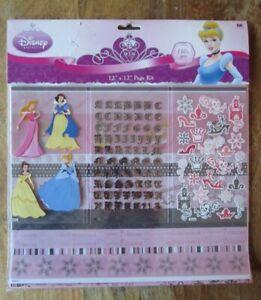 Disney Princess Twist 12x12 Scrapbook Page Kit EK SUCCESS-130 pieces -  NEW