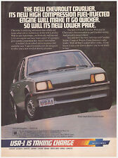 Original 1983 Chevrolet Cavalier Vintage Print Ad Chevy USA-1 Is taking Charge