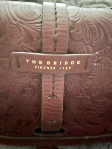 👜The Bridge Classic Brown Whiskey Leather Shoulder Bag Purse. EUC!!!
