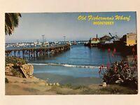 Old Fisherman's Wharf Monterey California CA Postcard