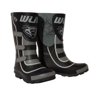 Wulfsport Cub Mud Stompers Wellies Kids Youth Waterproof Motocross Boots Black